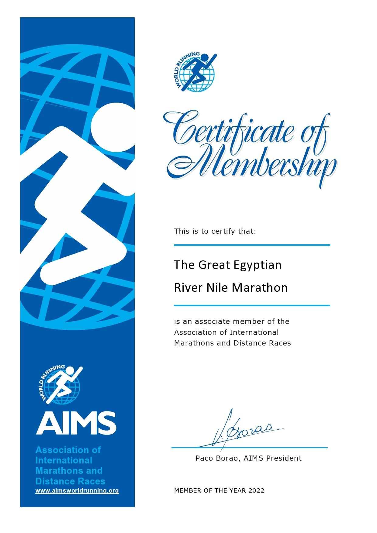 Break News First WA/Aims Certified Full Marathon in Cairo